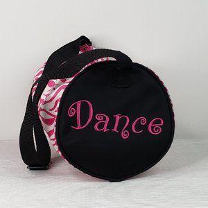 ❤Girls Horizon Dance Zipper Bag w/Strap Pink Zebra